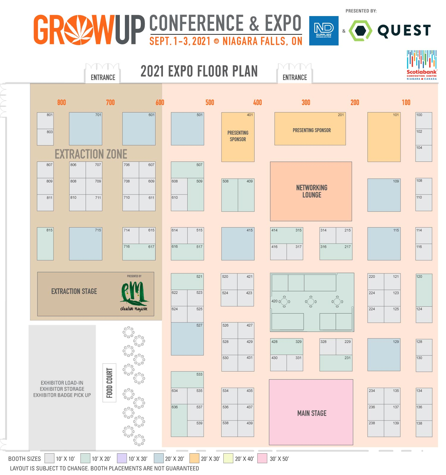 Grow Up Expo Floor Plan