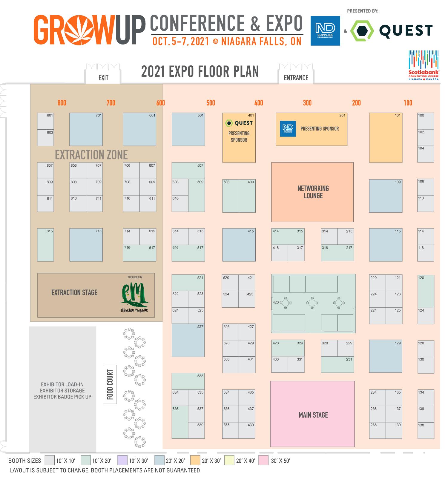 Grow Up Expo Floor Plan