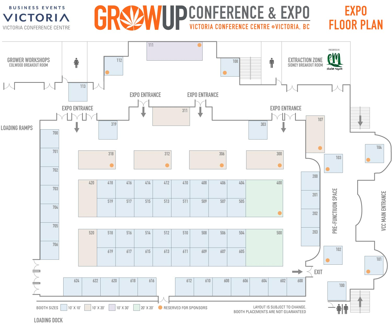 Grow Up Expo Floor Plan, May 31 - June 2, 2021 Victoria BC